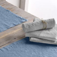 Lot de 2 serviette 45x45 Lin métis - Gris clair