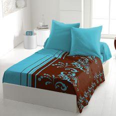 Parure de drap 4 pièces microfibre 240x300 cm Lily Bleu