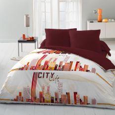Parure de drap 100% microfibre City Life 220x290
