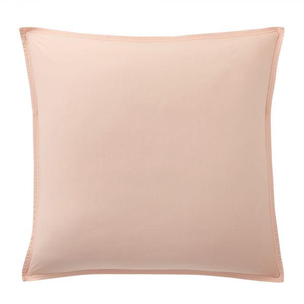 Taie d'oreiller 100% Percale de Coton Lavé 80 fils Bâton Rouge Rose