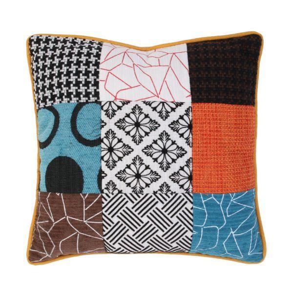 Coussin patchwork déhoussable 40x40 cm