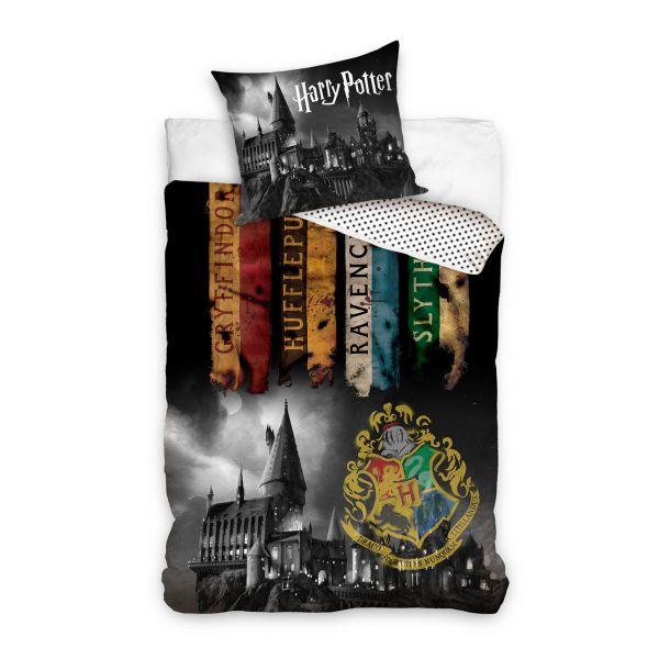Parure de lit Harry Potter - Poudlard Dark 100% coton 140x200 cm
