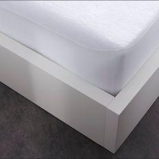 Protège matelas imperméable été/hiver 100% Coton Blanc