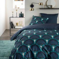 Parure de lit housse de couette Réversible avec taies d'oreiller 100% Coton 57 fils 5.50