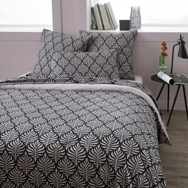 Parure de lit housse de couette avec taies d'oreiller 100% Coton 57 fils Gaby Vieux Rose